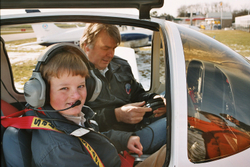 Maurits as co-pilot